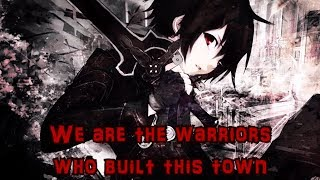 Download Lagu Nightcore AMV - SAO - Warriors (Rock Version) || Lyrics「Imagine Dragons」 Gratis STAFABAND
