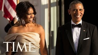 Barack And Michelle Obama Unveil Model Of Presidential Library | TIME