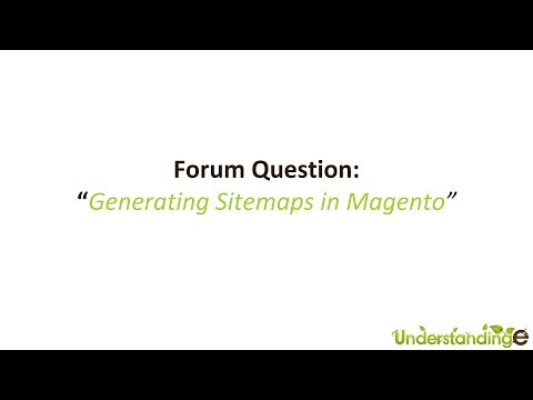 How to create a sitemap in Magento for Google Webmaster Tools