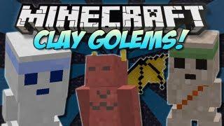 Minecraft | CLAY GOLEMS! (More aggressive minions!) | Mod Showcase [1.4.7]