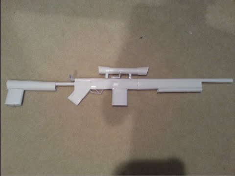 How to Make a Paper Gun That Shoots Sniper