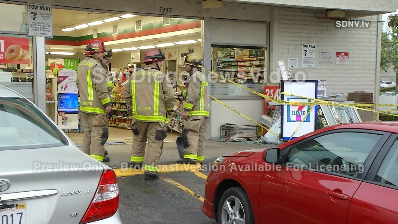 DRIVER CRASHES INTO 7-ELEVEN STORE