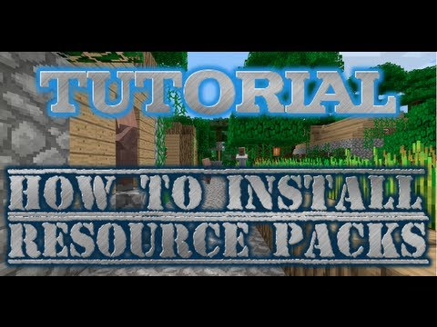 How to Install Resource Packs/Texture Pack