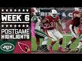 Jets vs. Cardinals (Week 6) | Game Highlights | NFL