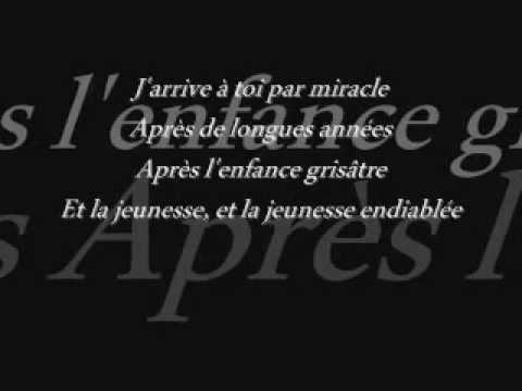 Carla Bruni - J'arrive à toi ( lyrics )