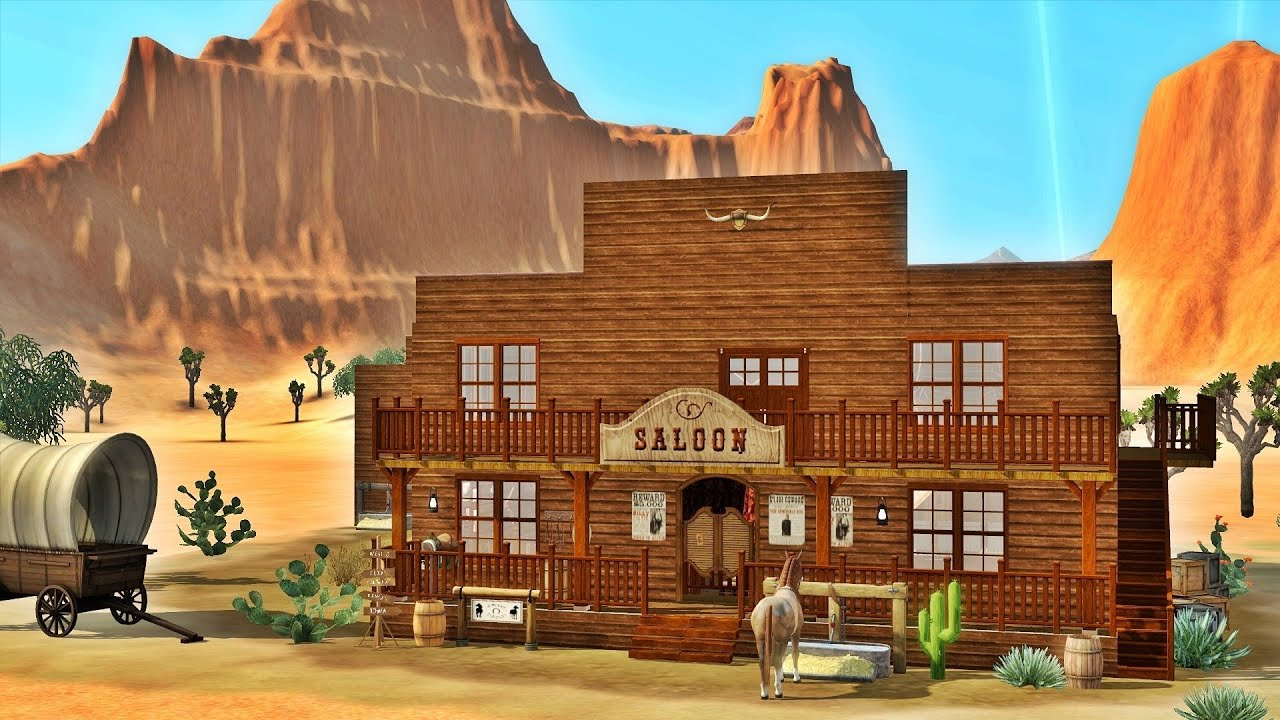 Sims 3 saloon in the wild west featuring julia engel - Salon country western ...
