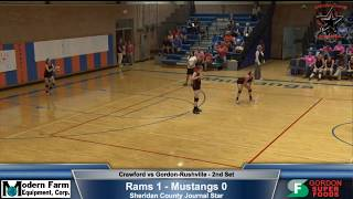 VOLLEYBALL - FULL Game and Commentary - Gordon Rushville Mustangs vs Crawford Rams - FREAM Sports