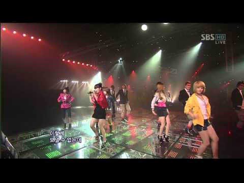 01.11.2009 [1nkigayo] Supernova & T-ara: Time To Love 2 video
