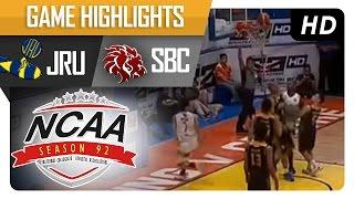 JRU vs SBC | Game Highlights | NCAA 92 - September 6, 2016