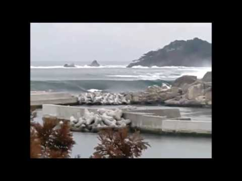 Japan Tsunami Wave Caught On Camera Live