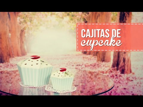 Regala cajitas en forma de cupcake, s úper fácil!