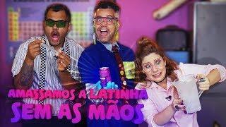 AMASSAMOS LATAS SEM AS MÃOS!! - LABORATÓRIO MALUCO -