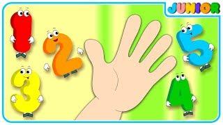 Number Finger Family Song | Nursery Rhymes & Kids Songs | Nursery Rhymes Junior