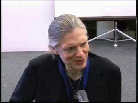 visionary artist Alex Grey talks about LSD discoverer Albert Hofmann (1906-2008), at Albert's 100th birthday event in Basel, Jan. 2006.