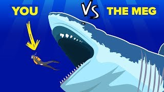 YOU vs THE MEG - How Can You Defeat and Survive It (The Meg Shark Movie)