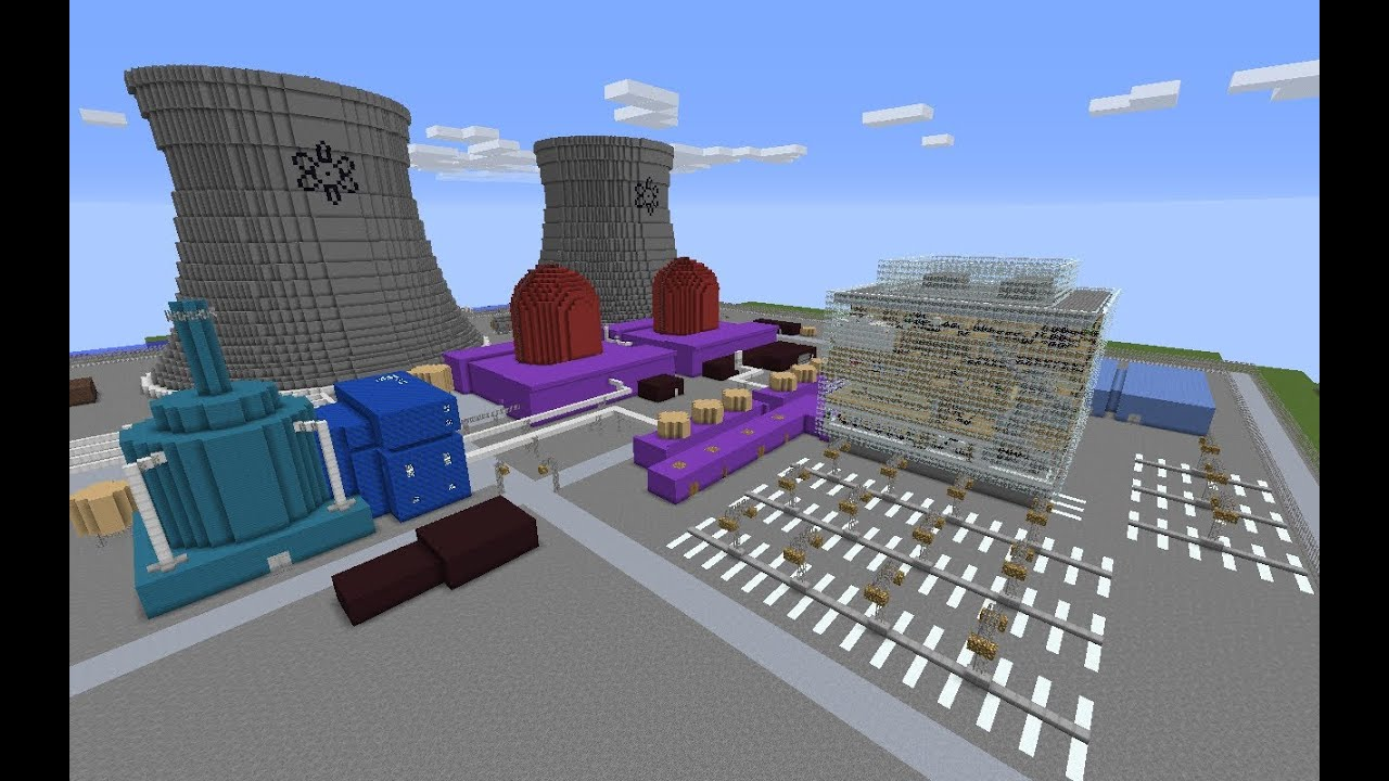 Minecraft Nuclear Power Plant