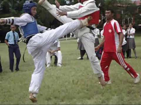 Nepal Army School Taekwondo in Army School of