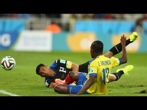Honduras 1 - 2 Ecuador World Cup 2014