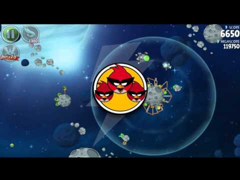 Angry Birds Space HD Beak Impact All levels