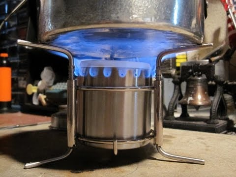 Ultra-Safe & High Capacity Backpacking Stainless Steel Alcohol Stove - Boil Test #1