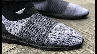 SNEAKER REVIEW & UNBOXING: adidas UltraBOOST Laceless LTD (with Black BOOST)