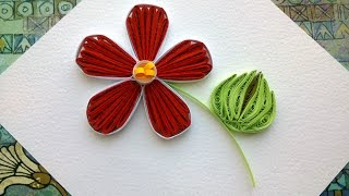 Quilling designs flowers How to make a paper Quilling design flower with comb.