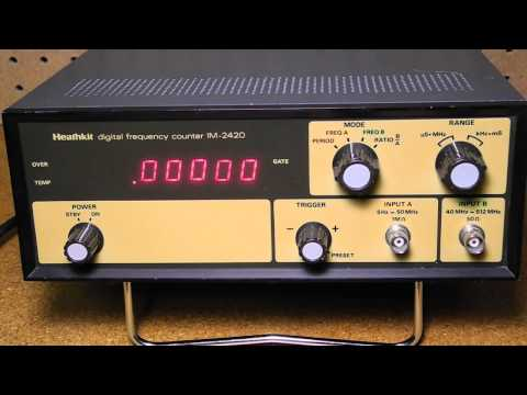 The Heathkit IM-2410 and IM-2420 Digital Frequency Counters