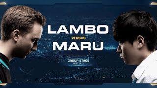 Lambo vs Maru ZvT - Group A - 2018 WCS Global Finals - StarCraft II