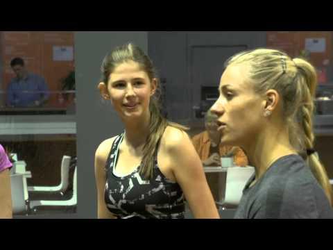 Angelique Kerber Porsche Tennis Grand Prix Kids Clinic