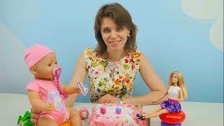 Видео для девочек Куклы Беби Борн и Барби - Видео для детей и Игры для девочек. Пупсики