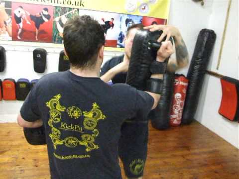 Progressive Kickboxing Class-Elbow Thai Pads.Kickfit Academy, Nottingham,UK Image 1