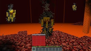 BEING A BLAZE FOR THE DAY IN MINECRAFT !! SURVIVAL INSIDE THE NETHER !! Minecraft Mods