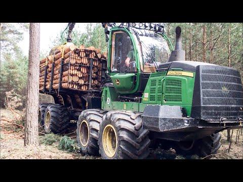 John Deere 1110G Forwarder Sturm Durchforstung I Moderne Forst Technik