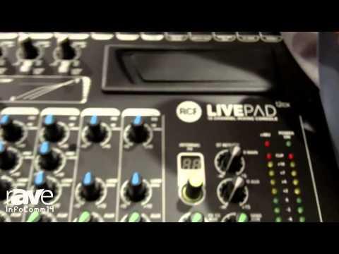 InfoComm 2014: RCF Presents its new LIVEPAD Mixers