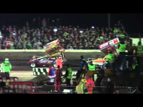 Brisca F1 Stock Car World Final 21-9-13 Harris Finnikin Harrison Wainman Speak Sworder Fairhurst