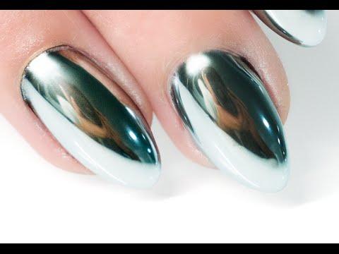 MIRROR POWDER NAILS Step by Step - Nails 21