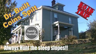 Dr. Built House gives up OLD COINS - Metal Detecting Road Trip FOUND SILVERS & More