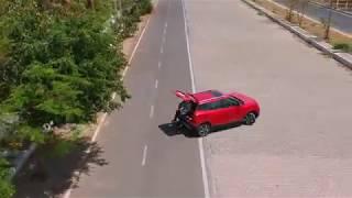 DJI Spark drone video of the Mahindra XUV300 petrol SUV