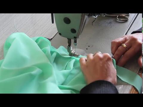 Como hacer una blusa con mangas verde mint muy fácil