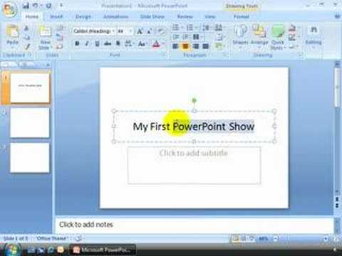 How to Create a Simple Slide Show in MS Office 2007