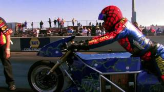 Lawless Electric Dragbike & Larry Spiderman McBride- Worlds fastest all electric dragbike!