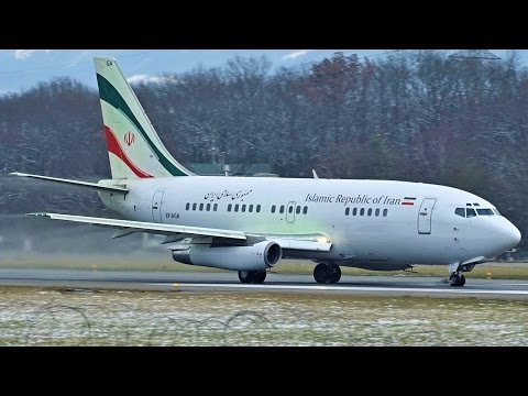 [FullHD] *RARE* Iranian Government Boeing 737-200(A) takeoff at Geneva/GVA/LSGG