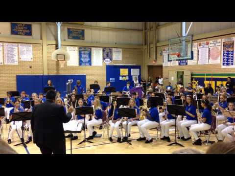 Jupiter Middle School plays Semper Fidelis