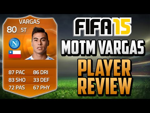 Fifa 15 MOTM Vargas Review (80) w/ In Game Stats & Gameplay - Fifa 15 Player Review