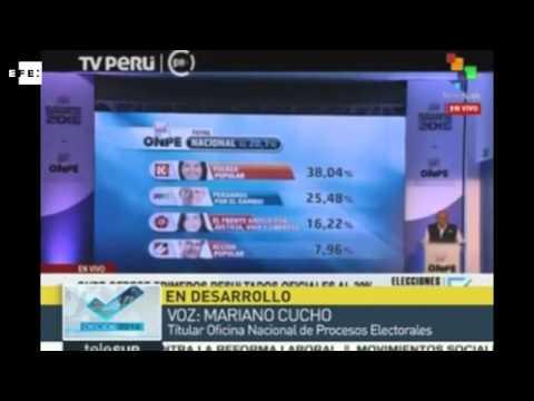 Con 38 04 % Keiko Gana Pero Habr Segunda Vuelta