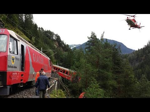Switzerland: seven injured after landslide derails train