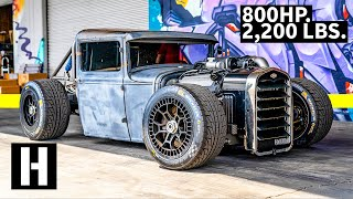 800hp Coyote Powered Hot Rod... on LeMans Wheels?? Mike Burroughs Ford Model A truck