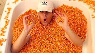 BATH FULL OF 10 MILLION CANDY CORN CHALLENGE! | David Vlas