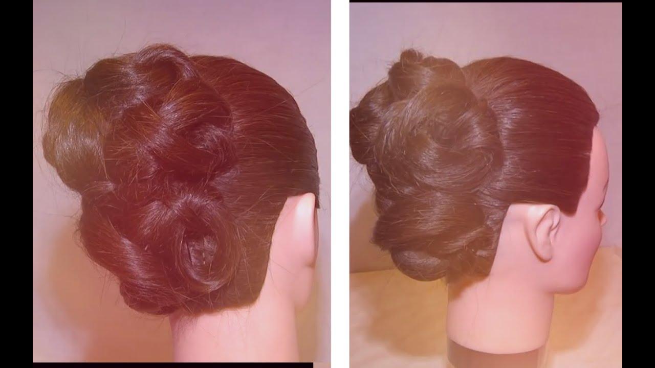 Причёска из обёрнутых хвостов