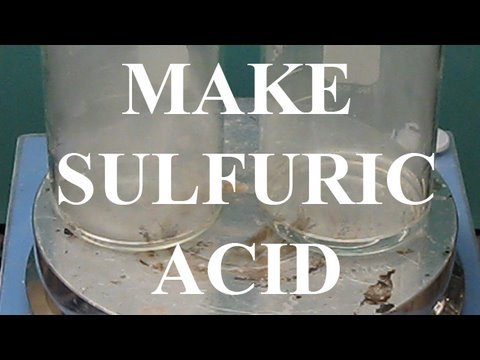 Make Sulfuric acid (metabisulfite/oxidizer method)